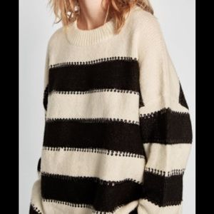 Zara Sparkle Stripes Jumper